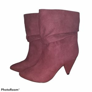 Call it Spring Burgundy ankle Boots Size 8